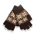Перчатки Gloves Touchscreen Коричневые
